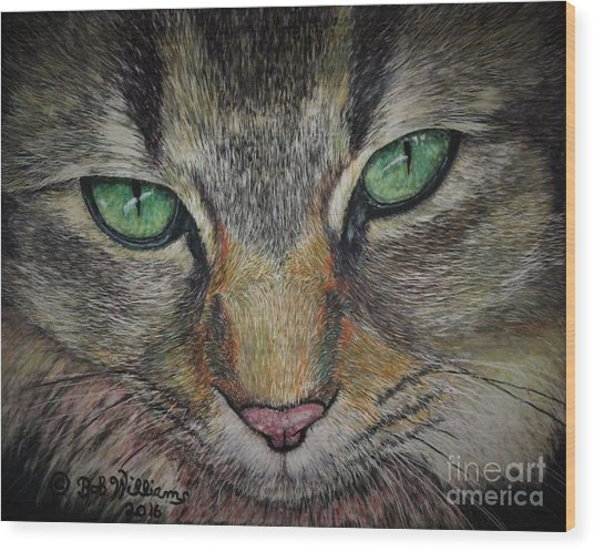 Sharna Eyes Wood Print