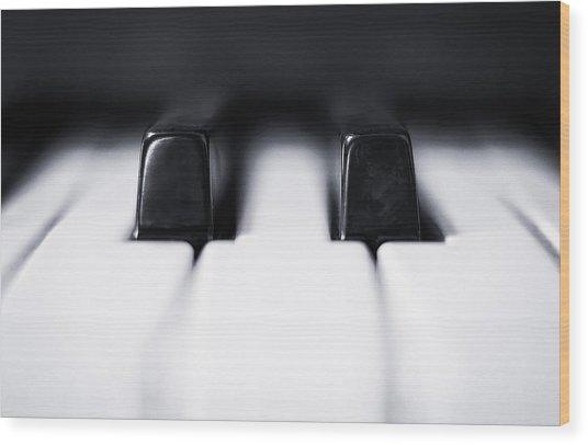 Sharp Or Flat Wood Print