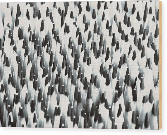 Sharp Wooden Pencils Wood Print