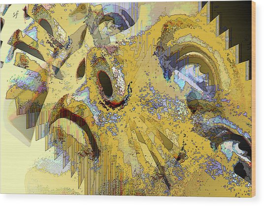 Wood Print featuring the digital art Shattered Illusions by Shelli Fitzpatrick