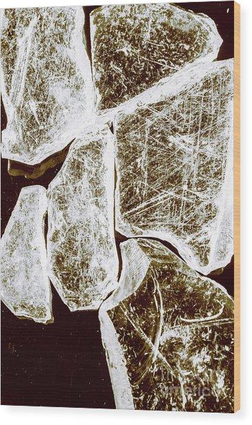 Shattering Shards Wood Print