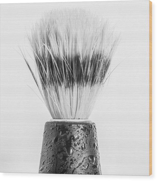 Shaving Brush Wood Print