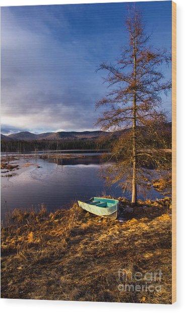 Shaw Pond Sunrise Wood Print