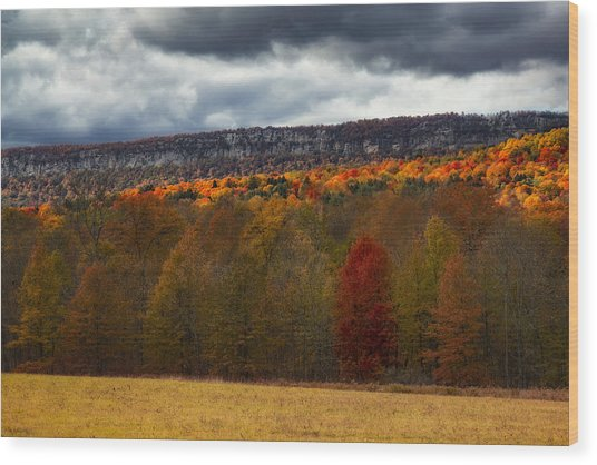Shawangunk Mountains Hudson Valley Ny Wood Print