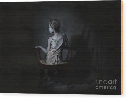 She, As A Ghostly Echo Wood Print