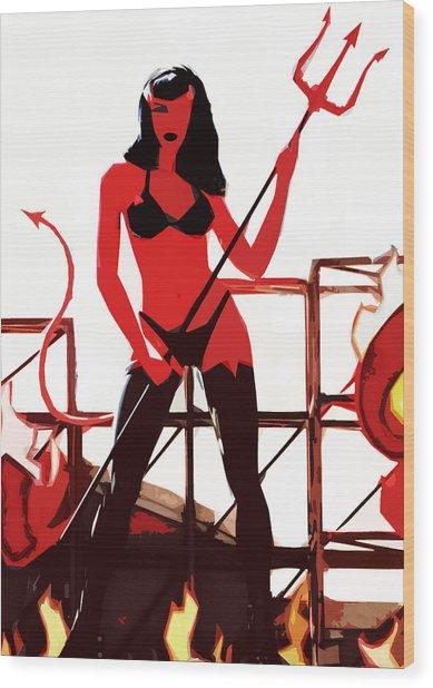 She-devil Wood Print by Jason Williams