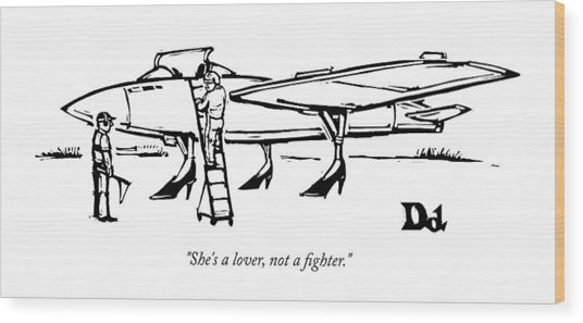 She Is A Lover Not A Fighter Wood Print
