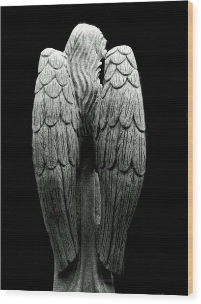 She Talks With Angels Wood Print