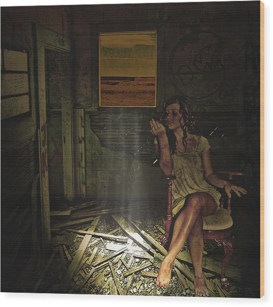 She Waits For Him To Return Wood Print by Jeff Burgess