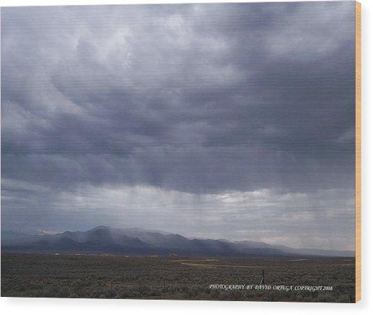 Shear Rainfall Wood Print by David Ortega