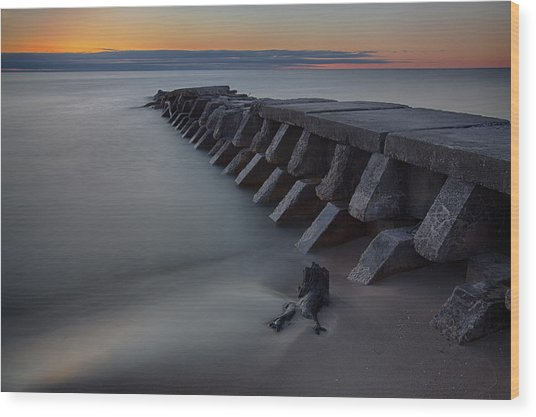 Sheboygan Jetty 1 Wood Print