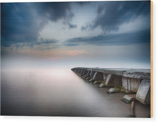 Sheboygan Jetty 4 Wood Print