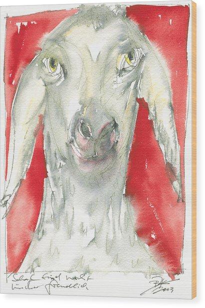 Sheeps Are Not Always Kind .... Wood Print by Joerg Bernhard Klemmer