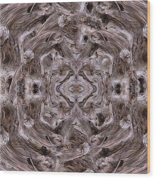 Sheep's Head Vortex Kaleidoscope Wood Print