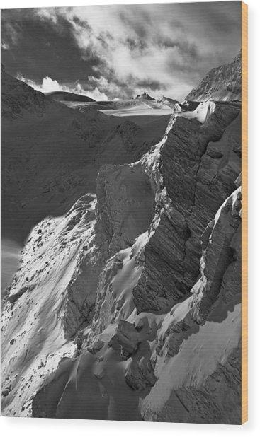 Sheer Alps Wood Print