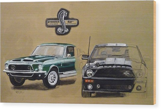 Shelby 40th Anniversary Wood Print
