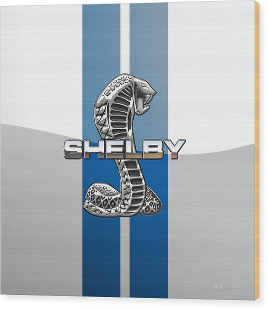 Shelby Cobra - 3d Badge Wood Print