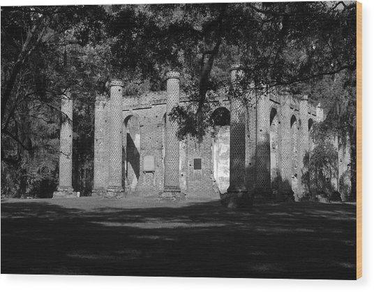 Sheldon Church 7 Bw Wood Print