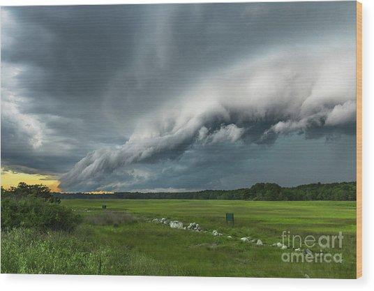 Shelf Cloud Wood Print