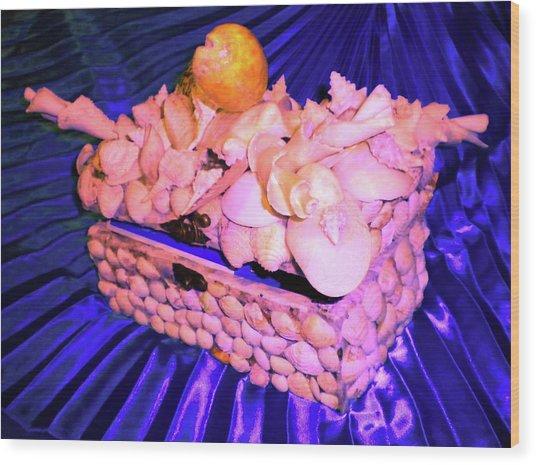 Shell Box Wood Print by Arlin Jules
