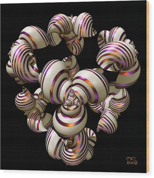 Shell Convergence Wood Print