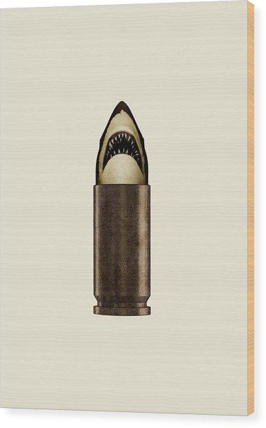 Shell Shark Wood Print