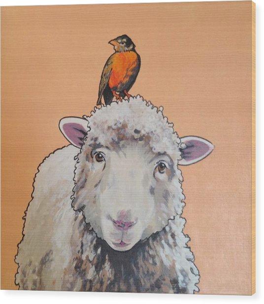 Shelley The Sheep Wood Print