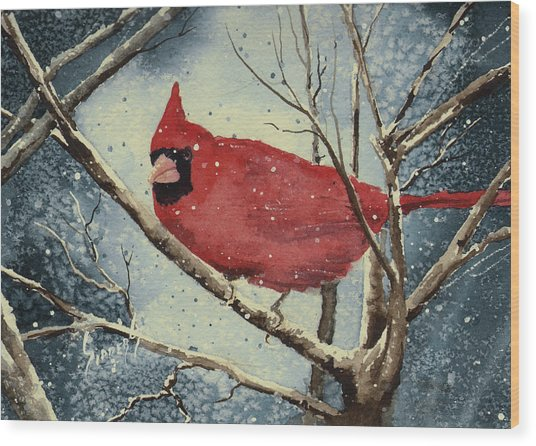 Shelly's Cardinal Wood Print