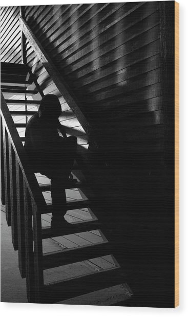 Wood Print featuring the photograph Shelter by Eric Christopher Jackson