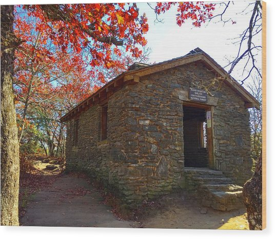Blood Mountain Shelter Wood Print