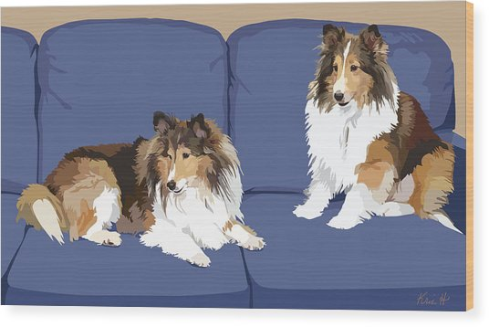 Sheltie Chic Wood Print by Kris Hackleman