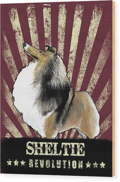 Sheltie Revolution Wood Print