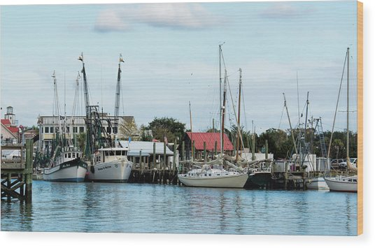 Shem Creek Wood Print