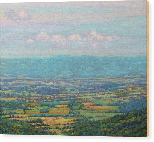 Shenandoah Blue Wood Print