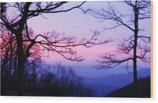Shenandoah Twilight Wood Print