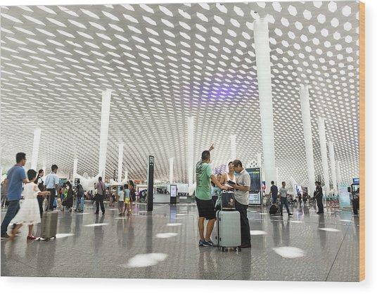 Shenzhen Airport Wood Print