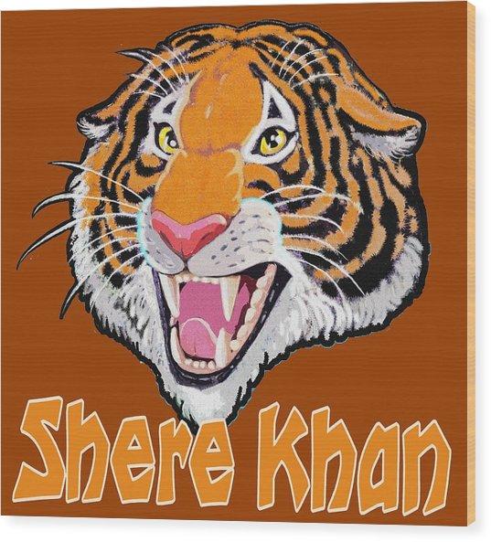 Shere Khan Wood Print