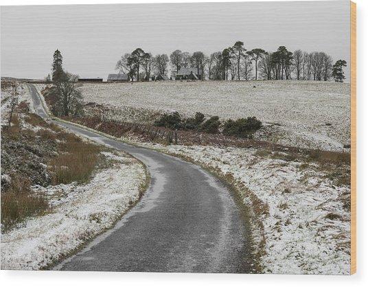 Sheriffmuir Road Wood Print