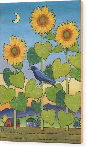 Sheris Sunflowers Wood Print