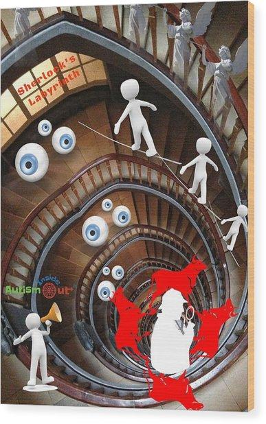 Sherlocks Labyrinth Wood Print