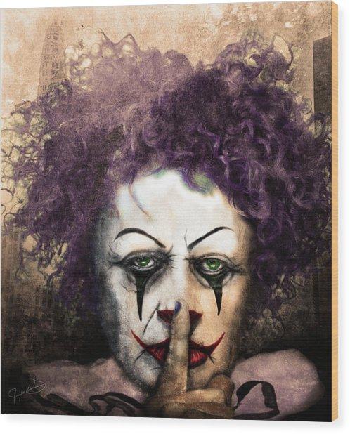 Shhhhh Wood Print by Jeremy Martinson