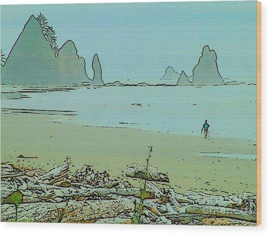 Shi Shi Beach And Patrick Wood Print