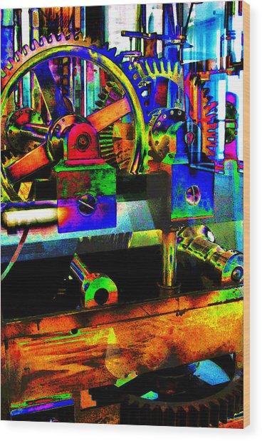 Shifting Gears Wood Print
