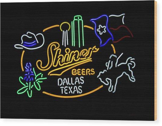Shiner Beers Dallas Texas Wood Print