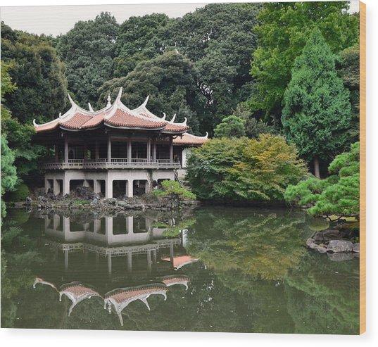 Shinjuku-gyoen Tea House Wood Print