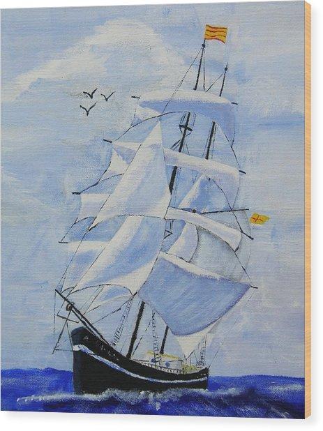 Ship It Wood Print