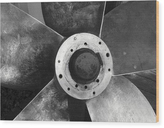 Ship Propeller  Wood Print