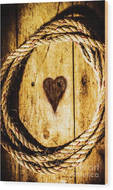 Ship Shape Heart Wood Print