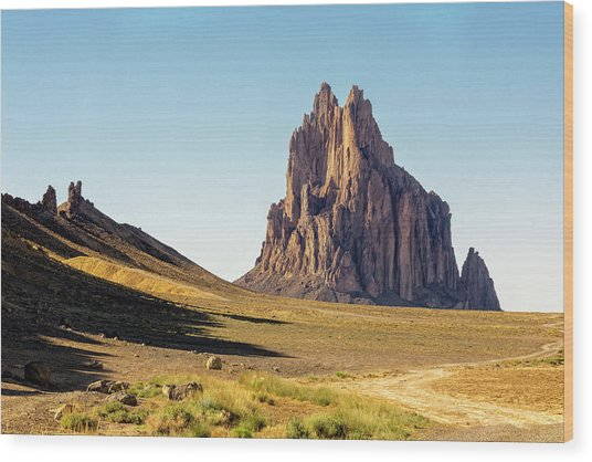 Shiprock 3 - North West New Mexico Wood Print