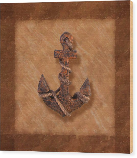 Ship's Anchor Wood Print